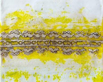 original encaustic painting-  lace