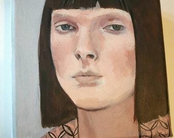 SALE - Joan - Original painting on canvas