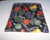 Microwave, Potato Bag, Mixed Vegetables 2, Potato Sack, Microwave Potato Bag, Kitchen Utensil, Handmade, ALL Cotton