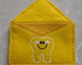 Yellow tooth fairy mailing envelope