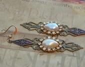 Filigree Bohemian Gypsy Chic Wedding Earrings