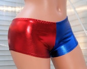 Harley Quinn Suicide Blue Red Boy Booty Shorts Choose Size - MTCoffinz