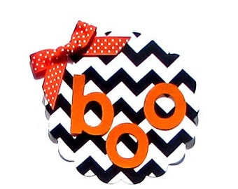 Halloween Boo...Fabric Iron On Applique...Two Colors Available