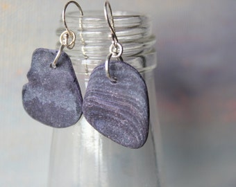 Sterling Silver Natural Mussle Shell Earrings