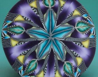 HALF PRICE SALE Polymer Clay Circle Kaleidoscope Cane-'Ripple' series (22dd)