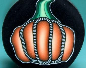HALF PRICE SALE -Polymer Clay Pumpkin Cane - 'Nevermore' (12dd)