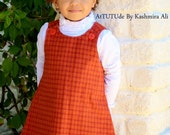 Preppy Style Girls Flannel Jumper Made to order in size 6 months to 8 years