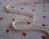 8mm White Crochet  Cotton Lace- S03