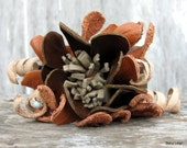 Leather Flower Cuff by Stacy Leigh Ready to Ship