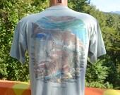 80s vintage pocket tee FISHING redfish crimson tide outback america t-shirt Large Medium fish hunt