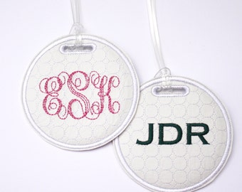 Monogram Personalized golf bag tag - golf gift for her - gift for him - stocking stuffer