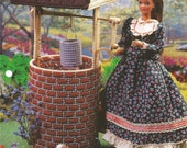 Wishing Well, Plastic Canvas, Doll Wishing Well, Sewing Pattern, Doll Pattern, Doll Accessory, 1997, Annies Fashion Doll, Leaflet, Supplies