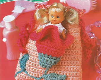 Sweet Blossoms Purse Crochet Pattern, Annies Fashion Doll, Crochet Club, FCC16-03, Sewing Pattern, Gift Idea, Sewing Supplies,Sewing Leaflet