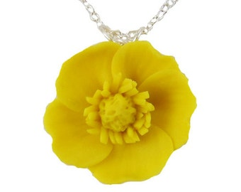 Yellow Buttercup Necklace - Buttercup Jewelry Collection
