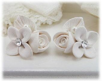Bouquet Bridal Flower Earrings