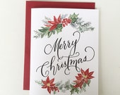 Merry Christmas ~ Watercolor Greeting Card