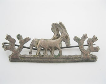 Antique southwestern style brooch