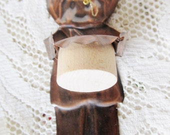 Vintage 1974 Arts And Crafts OOAK Copper Drummer Boy, Christmas Ornament