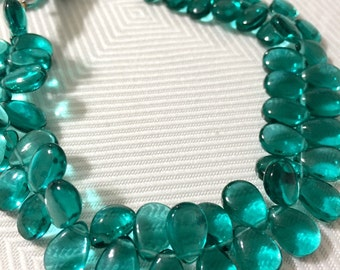 1/2 strand of Aqua green quartz smooth WHOLESALE 22.00