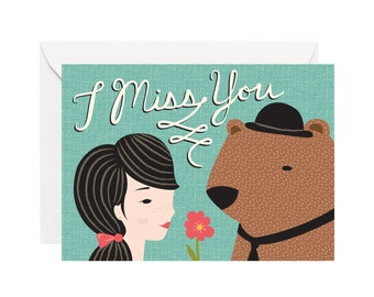 missin you card