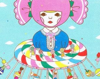 13×19 Art Print  -Swing ride -