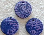 Inked Stamped Charm - 1 Bead