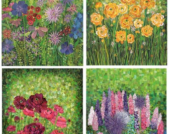 in the garden: 4 print set (8x10)