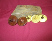 Five Handcrafted Stocking Stuffer Wooden Spinning Tops