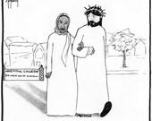 Larycia Hawkins and Jesus CARTOON
