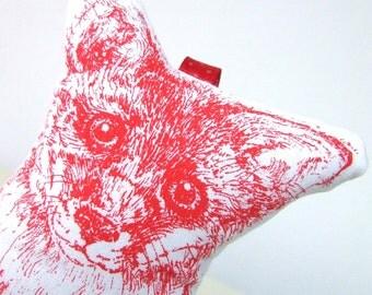 Red Fox Lavender Sachet Hand printed Fox Lavender bag