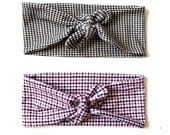 SALE Tie Up Headscarf Gingham
