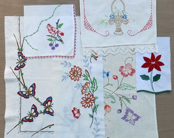 Vintage linens and embroidered angel inspirations