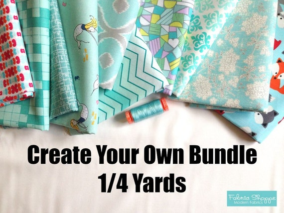 Custom Fabric Bundle. Create Your Own Fabric Shoppe Fabric Bundle- 1/4 Yards, You Choose the Amount. Free Shipping Available