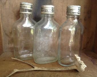 GLASS SUPPLIES...3 beach found bottles - wedding party candle - zen garden supplies - beach finds