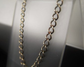 Antique Gold Chain Necklace Oxidized Bronze Curb Chain by the foot 3x3.5mm Item No. 1438