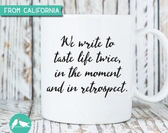 Writer's Mug, Writer's Mug Coffee Mug, Custom Mug, Writer's Quote Mug, Typewriter Mug, Gift for Writers, Author Mug, Holiday Gift 21