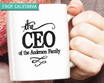 10% OFF Personalized Mug, The CEO Mug, The ceo of family Mug, The CEO Coffee Mug, Custom Mug, Quote Mug, Mother's Day, Holiday Gift 11