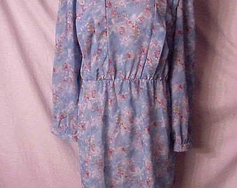 80s Mini Dress poly/cotton secretary dress