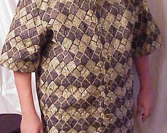 Brocade Gold & Black Lame' Man's Hip Hop Pimp jacket XL