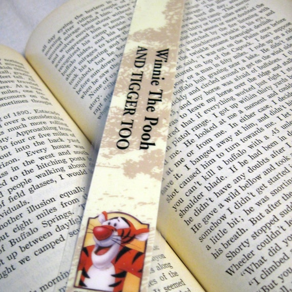 Winnie The Pooh And Tigger Too Recycled Bookmark By