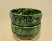 Two Wheel Thrown Soup or Cereal Bowls Pottery Hand Thrown SALE