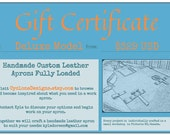 GIFT CERTIFICATE Fully Loaded Deluxe Custom Leather Apron
