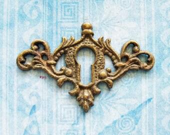 Escutcheon Skeleton Key Hole Furniture Plate Antique Filigree Wing Brass Hardware Diy Jewelry Steampunk Embellishment