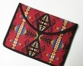 "13"" Macbook Pro Laptop Cover Sleeve Case Southwest Blanket Wool from Pendleton Oregon Scarlet Red"