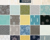 "Jennifer Sampou SHIMMER 2 Precut 5"" Charm Pack Fabric Quilting Cotton Squares Robert Kaufman CHS-380-42"