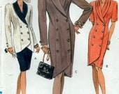 Vogue 90s Sewing Pattern Ladies Dress Skirt and Jacket Size 14 16 18 Vogue 7848