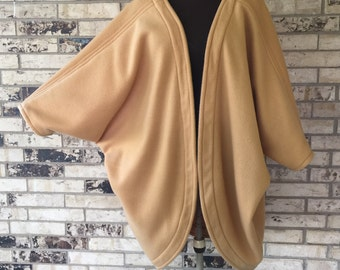 Plus Size Chakra Design Roomy Fleece Jacket/Shrug