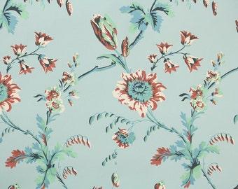 1950's Vintage Wallpaper - Nancy McClelland - Floral on Blue