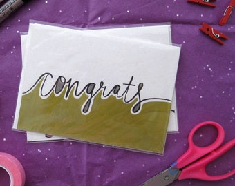 Congrats - Handmade Greeting Card