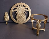 RESERVED Brass Pineapple Stand Only